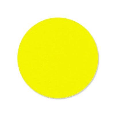 Etiket 35 mm rond fluor Geel 1.000/rol