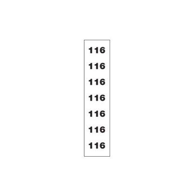 Transp maatstickers-maat 116-rol/250st