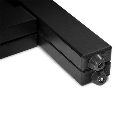 Krijtstoepbord ZWART dubbelzijdig bxh 55x85 cm