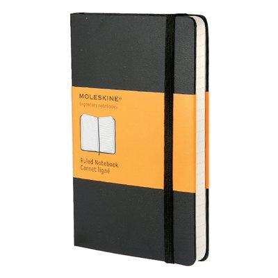 Notitieboek Moleskine pocket 90x140mm lijn zwart
