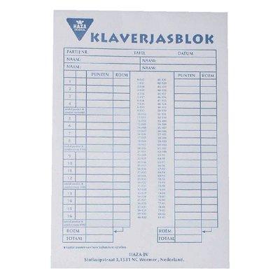 Scoreblok Klaverjas 50vel