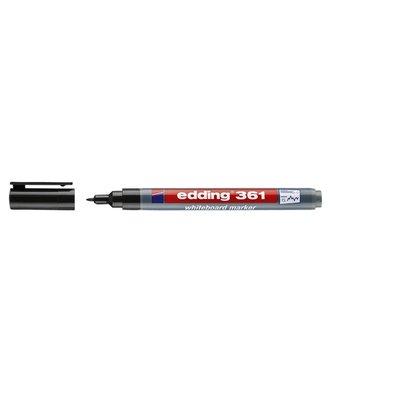 Viltstift edding 361 whiteboard rond 1mm zwart