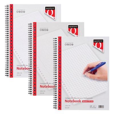 Collegeblok Quantore A4 23-gaats 4 tabs lijn 100vel