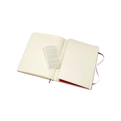 Notitieboek Moleskine XL 190x250mm lijn scarlet red