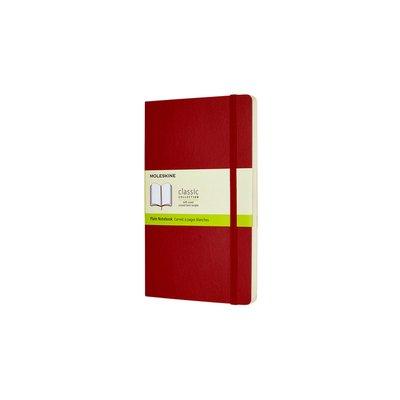 Notitieboek Moleskine L 130x210mm blanco scarlet red