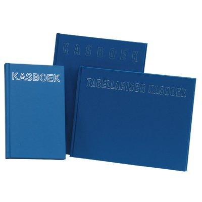Kasboek 103x165mm 192blz 1 kolom blauw